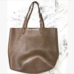 Madewell Large Transport Tote Dark Brown
